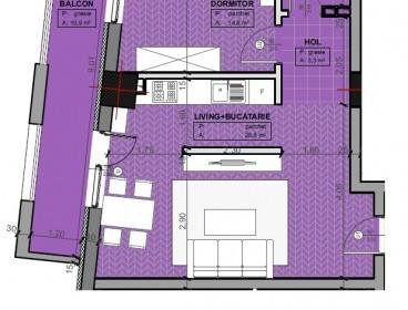 Viva Imobiliare - Apartament 2 camere bloc nou BILLA - ARCU 59 mp