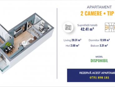 Viva Imobiliare - Apartament 2 camere - Dacia Complex Nou Locuinte