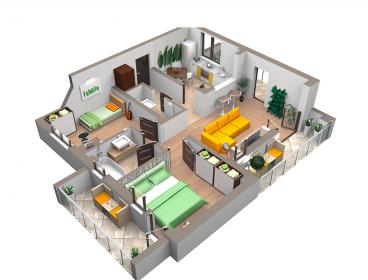 Viva Imobiliare - Apartament 3 camere Copou bloc nou 86.000 euro