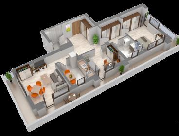 Viva Imobiliare - Apartament de vanzare 3 camere decomandate Bloc nou Semicentral