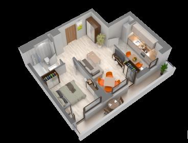 Viva Imobiliare - Apartament de vanzare 2 camere Bloc nou Semicentral