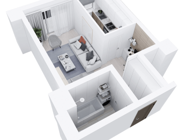 Viva Imobiliare - Apartament 1 camera decomandat 41mp bloc nou Comision 0%