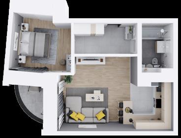 Viva Imobiliare - Apartament 2 camere 56 mp bloc nou Comision 0%
