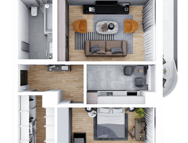 Viva Imobiliare - Apartament 2 camere decomandat 64 mp Bloc nou Comision 0%