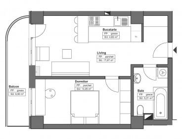 Viva Imobiliare - Apartament 2 camere 45 mp Bloc Nou Comision 0%
