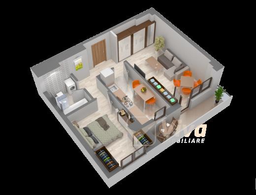 Viva Imobiliare - Apartament de vanzare 2 camere decomandate Bloc nou Semicentral