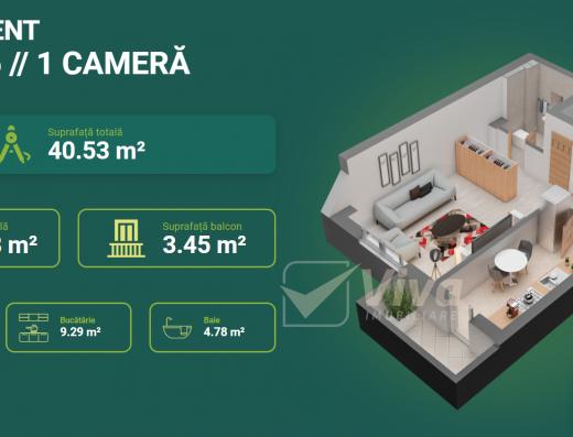 Viva Imobiliare - Apartament 1 camera decomandat - Dacia Bloc nou