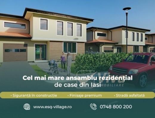 Viva Imobiliare - ESQ Village 3, cel mai mare ansamblu de case din Iasi, zona Galata