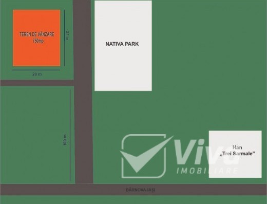 Viva Imobiliare - Bucium-Barnova, langa Nativa Park, teren impadurit, 750 mp, intravilan